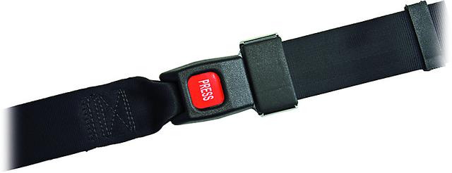 Sicherheitsgurt Sigu 3, Breite 50mm, Länge 165cm Kunststoffschloss mit Clip (rote Press-Taste), 2-teilig