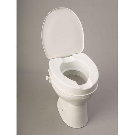 Toilettensitzerhöher 10cm mit Deckel für jedes Standard-Toilettenbecken geeignet