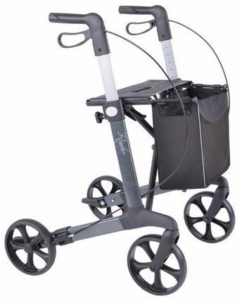 Rehasense Router Rollator; Leichtgewicht nur 6,8 kg, mit Einkaufstasche & Stockhalter