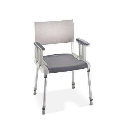 Aquatec® Sorrento Duschstuhl, durchgehender Sitz, mit Soft-Touch-Öberfläche, bis 135 kg belastbar