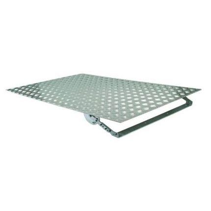 Terrassenrampe aus Aluminium, 80cm Breite, stufenlose Höheneinstellung, rutschfest