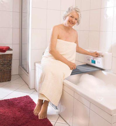 Juwel Tuchlift Premium Badewannenlifter, Wandmontage, der sichere und zuverlässige Badelifter (Bandlift) bis 150 kg belastbar