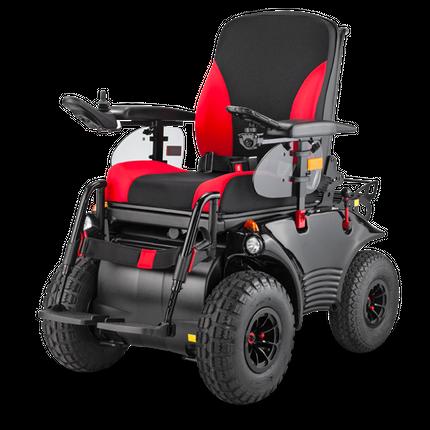 Elektro Rollstuhl Meyra Optimus 2 RS-Edition, der elektrische Rollstuhl in Sonderedition RS, ErgoSeat, schwarz, bis 150kg