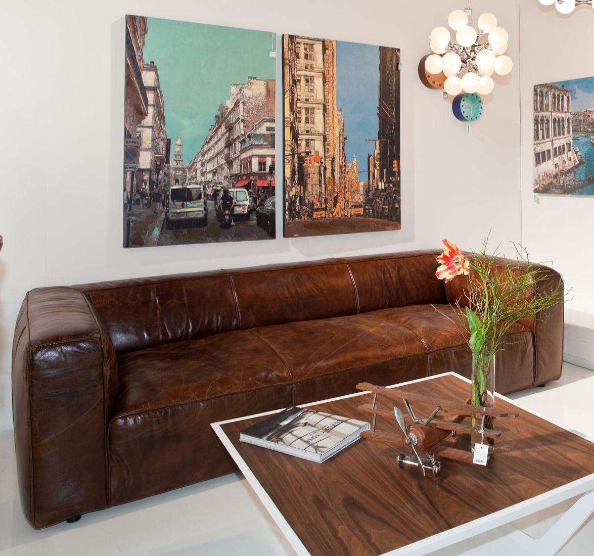 dewall sofa cubetto leder braun 3 sitzer rindsleder echteder ledersofa. Black Bedroom Furniture Sets. Home Design Ideas