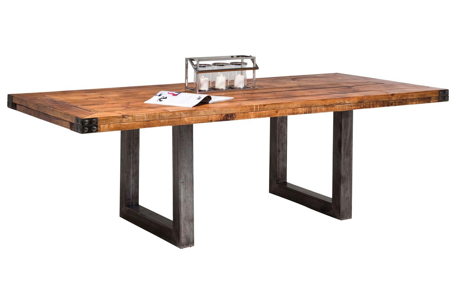 DeWall Esstisch Off-Road 220 cm Esszimmertisch Holztisch Tisch Massiv