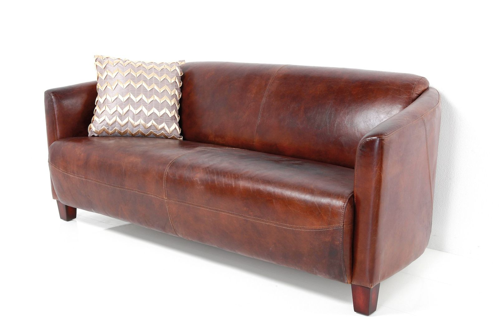 dewall sofa cigar lounge brown ledersofa 3 sitzer 3er loungesofa. Black Bedroom Furniture Sets. Home Design Ideas