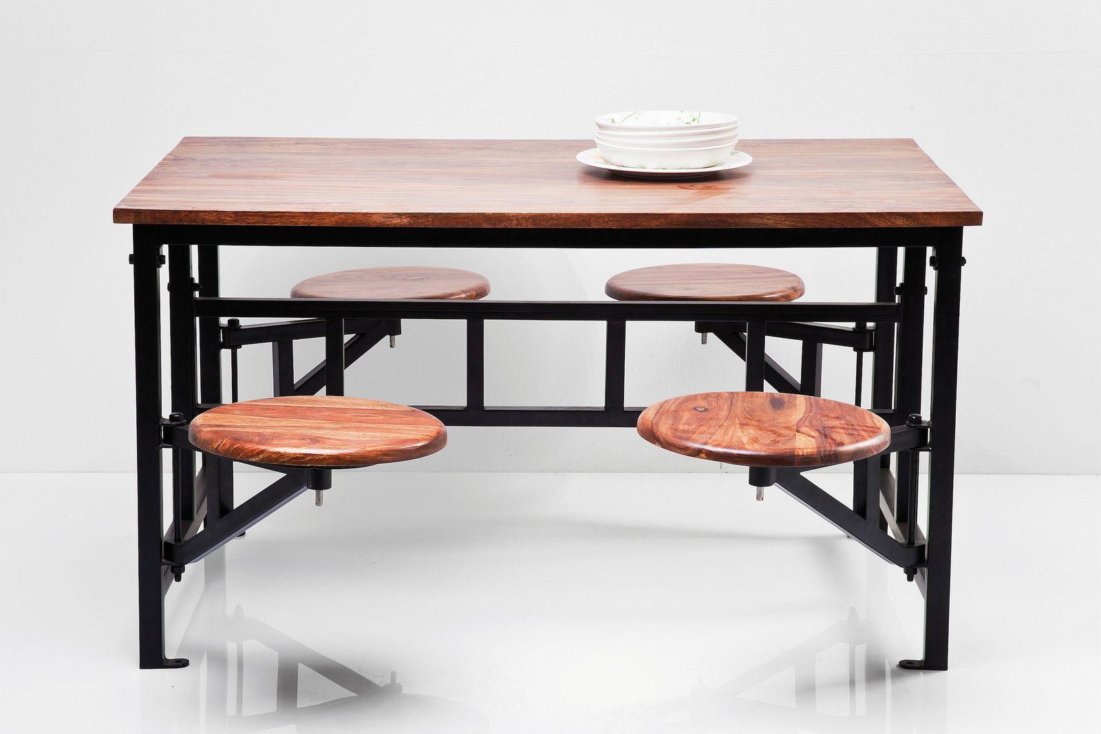 dewall tisch hocker space 5 tlg massivholz tischgruppe. Black Bedroom Furniture Sets. Home Design Ideas