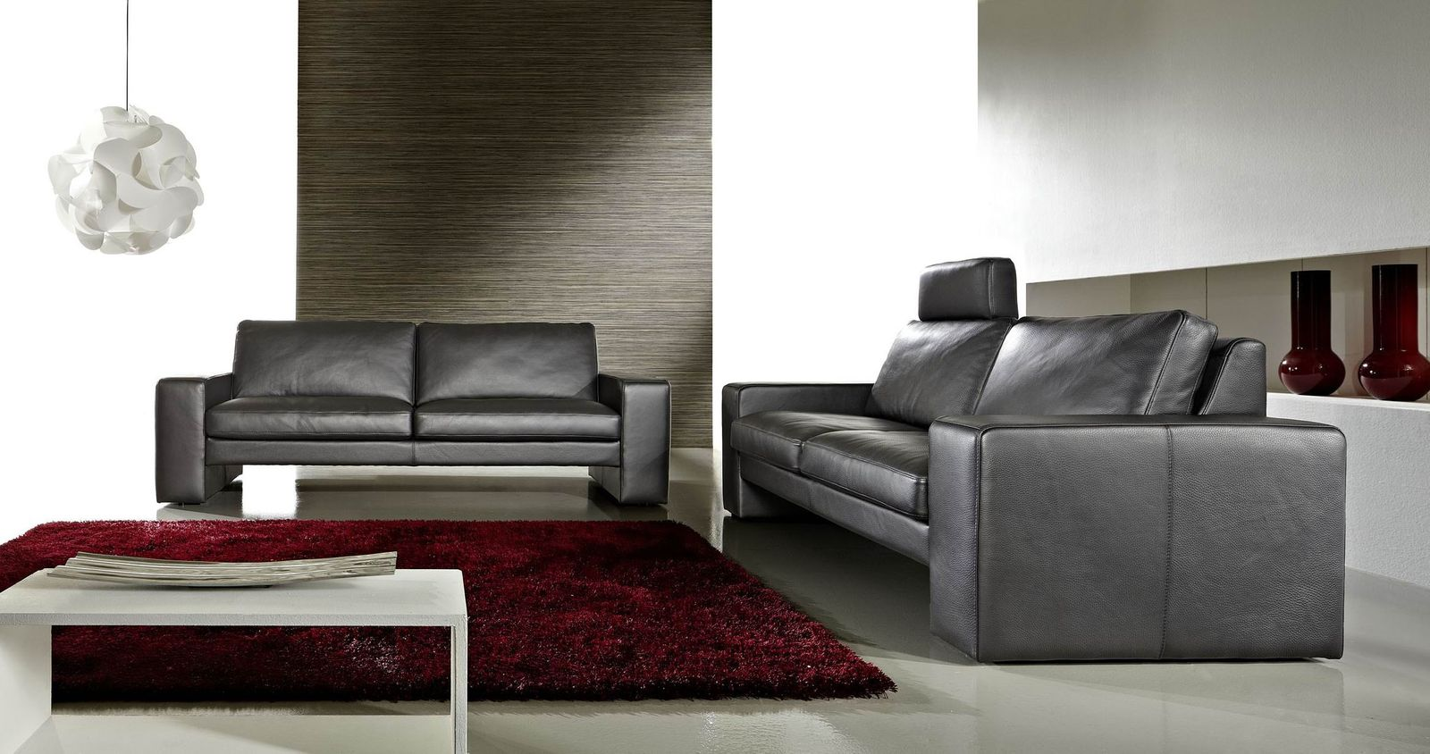 ledersofa nach ma edition two 2 sitzer 3 sitzer. Black Bedroom Furniture Sets. Home Design Ideas