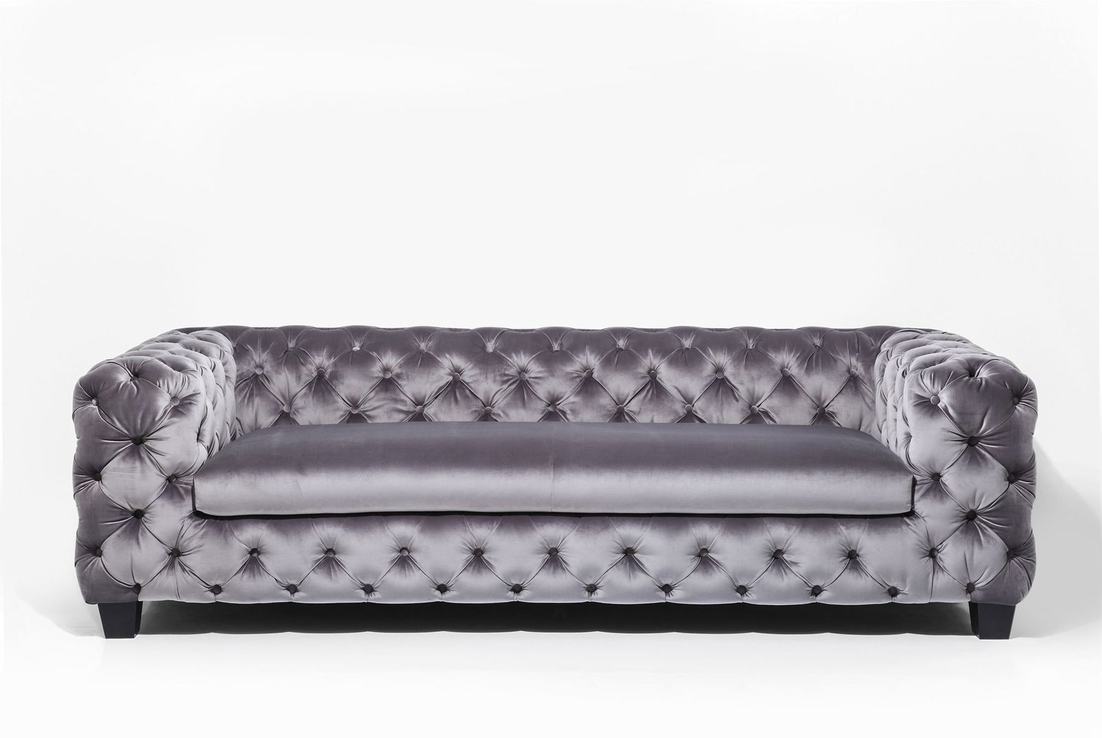 Sofa My Desire Silbergrau 3-Sitzer