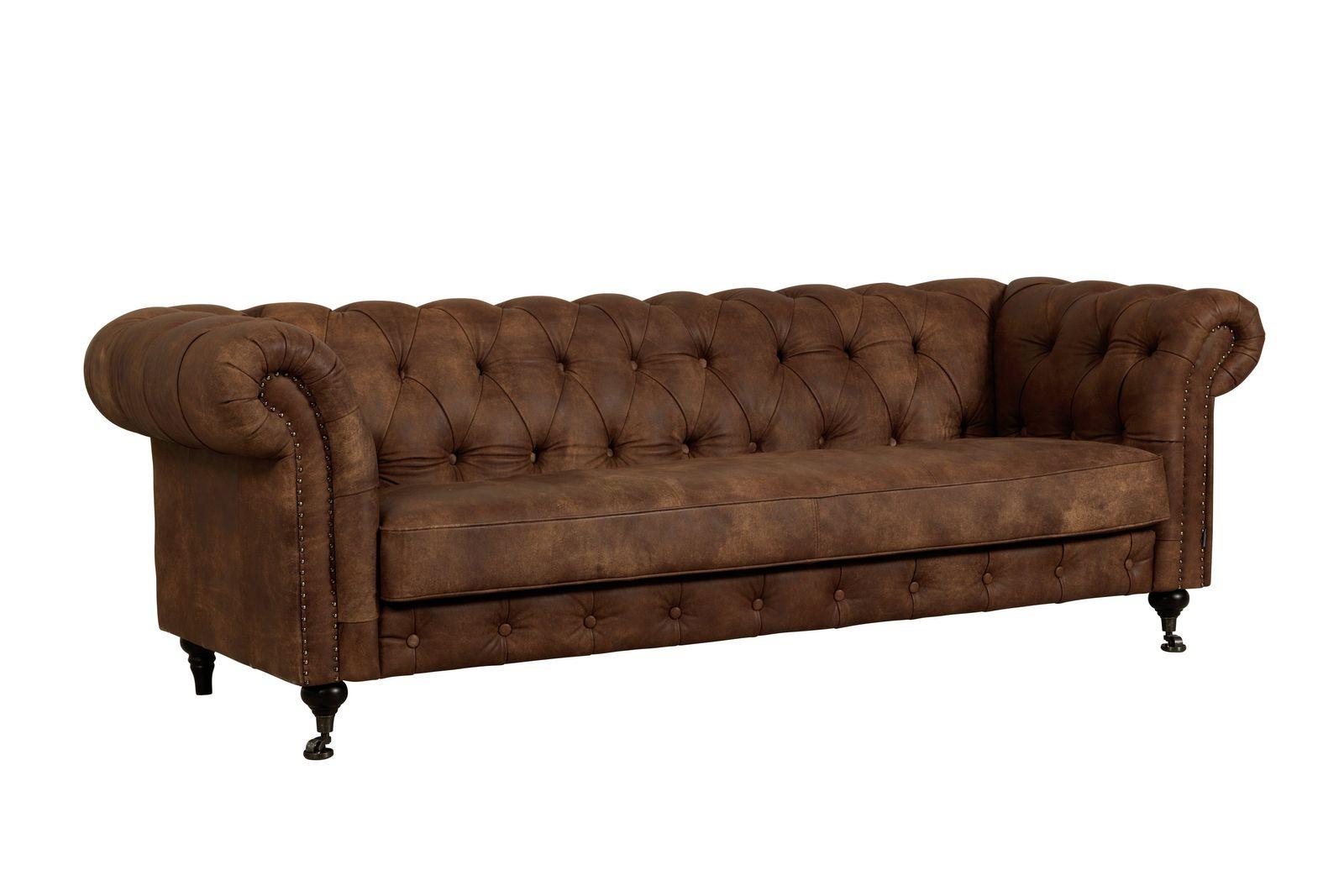 Furninova Chesterfield Sofa Churchill - Größe, Bezug und Farbe wählen