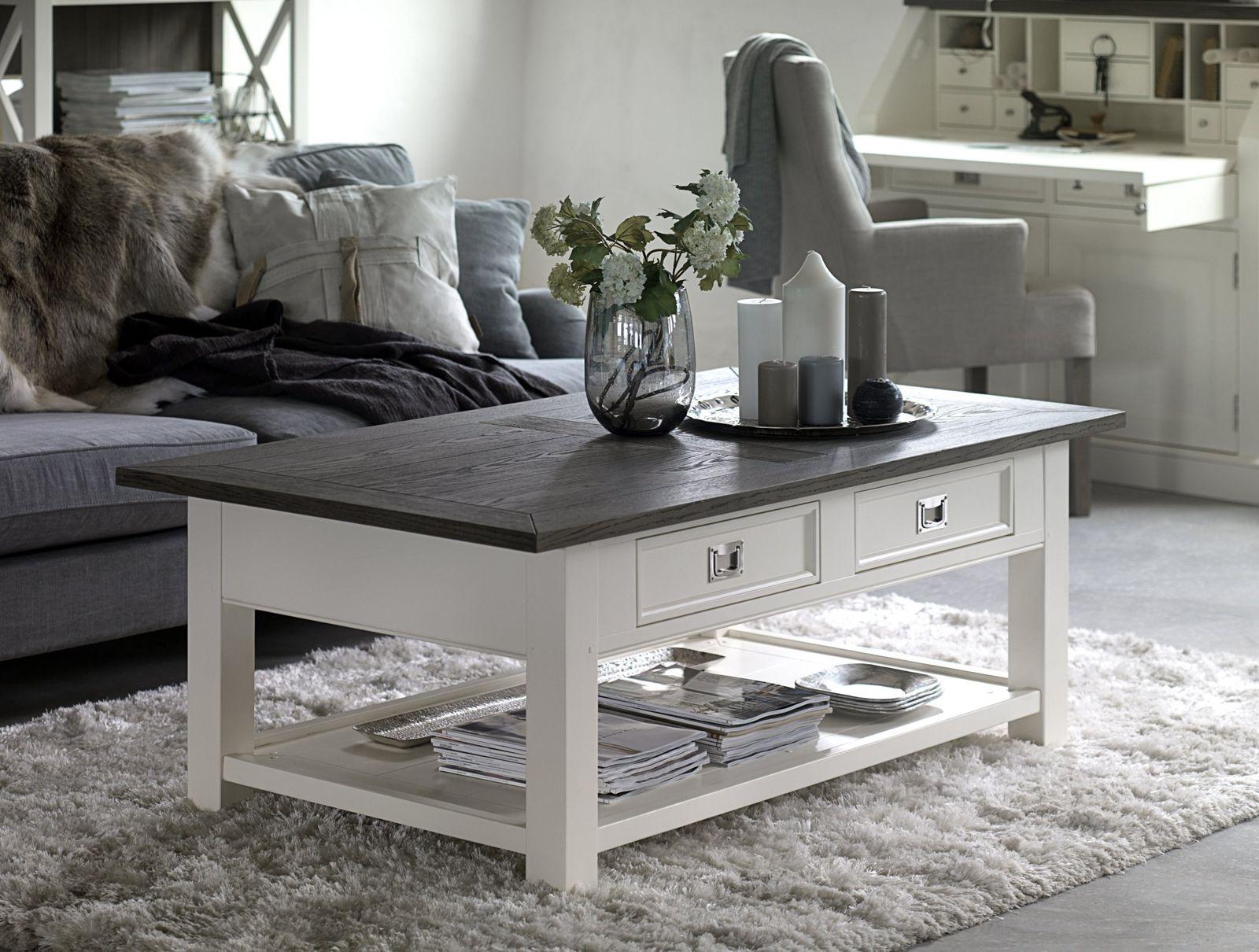 couchtisch skagen sk wei smoked massivholz l140 x b80 x. Black Bedroom Furniture Sets. Home Design Ideas
