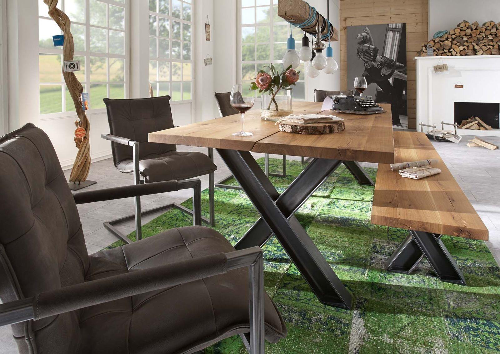 Tischsystem Woodstock Wildeiche massiv 3x Tischplatten- 3x ...