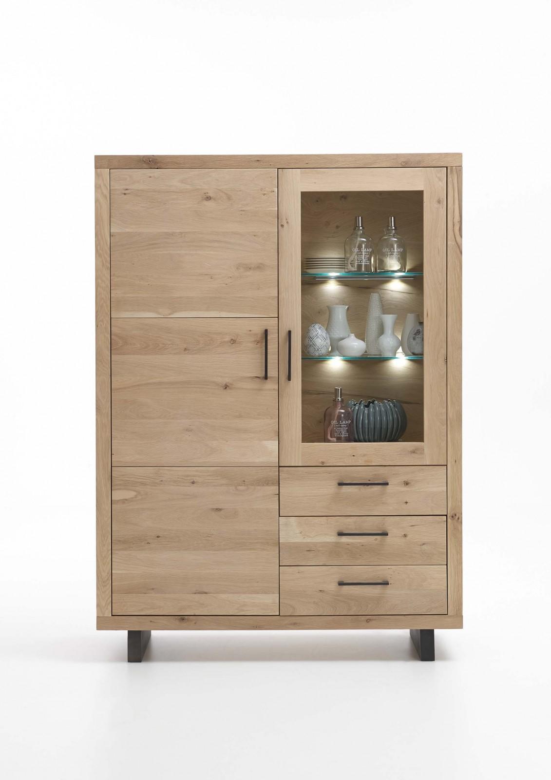 highboard woodstock wildeiche massiv. Black Bedroom Furniture Sets. Home Design Ideas