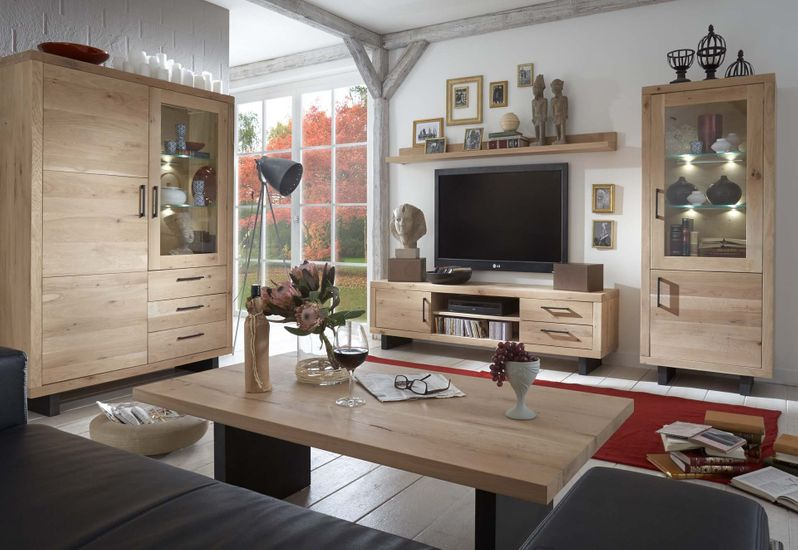 Highboard Woodstock Wildeiche massiv