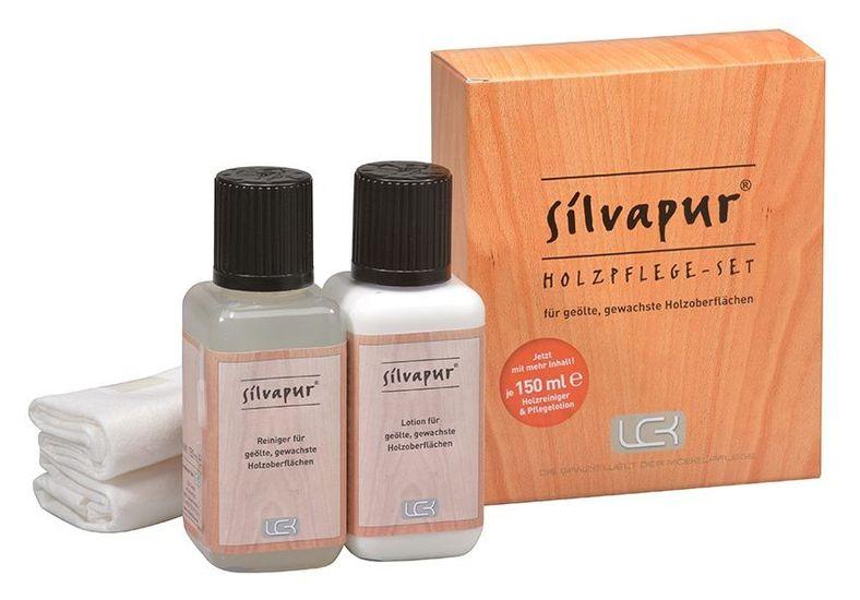 SILVAPUR® Holzpflege-Set für gewachste & geölte Holzoberflächen
