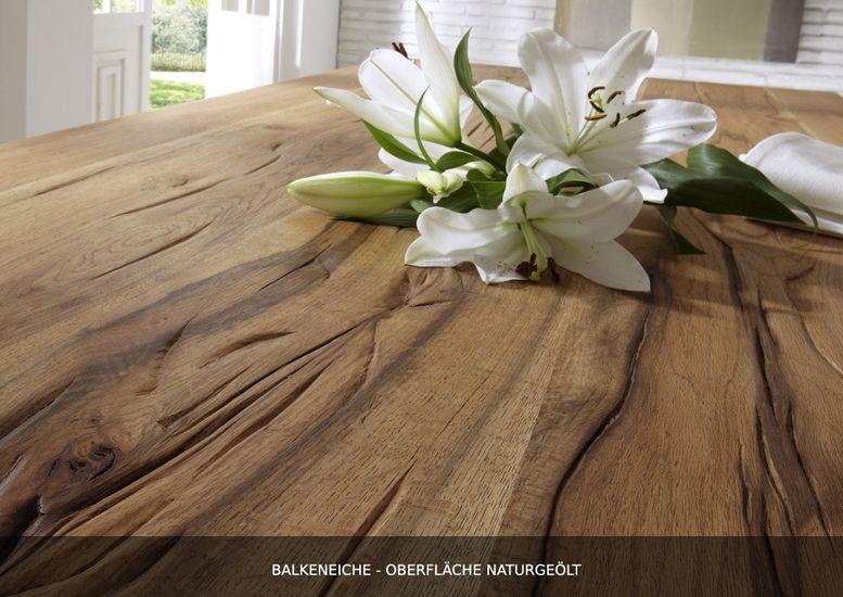 Tischsystem Nature Balkeneiche mit Baumkante