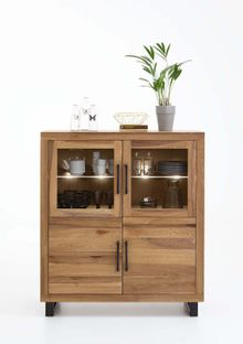 Highboard Nature Balkeneiche massiv