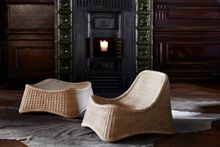 Rattan Sessel Chill mit Hocker - Design by Nanna Ditzel
