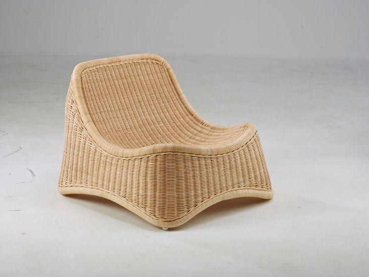 Rattan Sessel Chill mit Hocker - Design by Nanna Ditzel