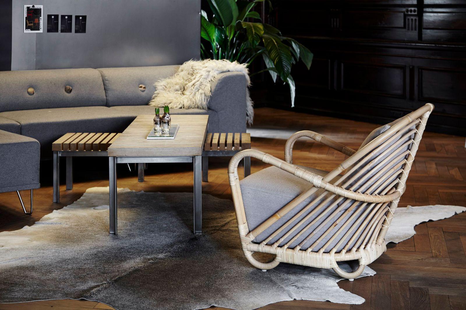 sika design rattan sessel charlottenborg design by arne jacobsen. Black Bedroom Furniture Sets. Home Design Ideas