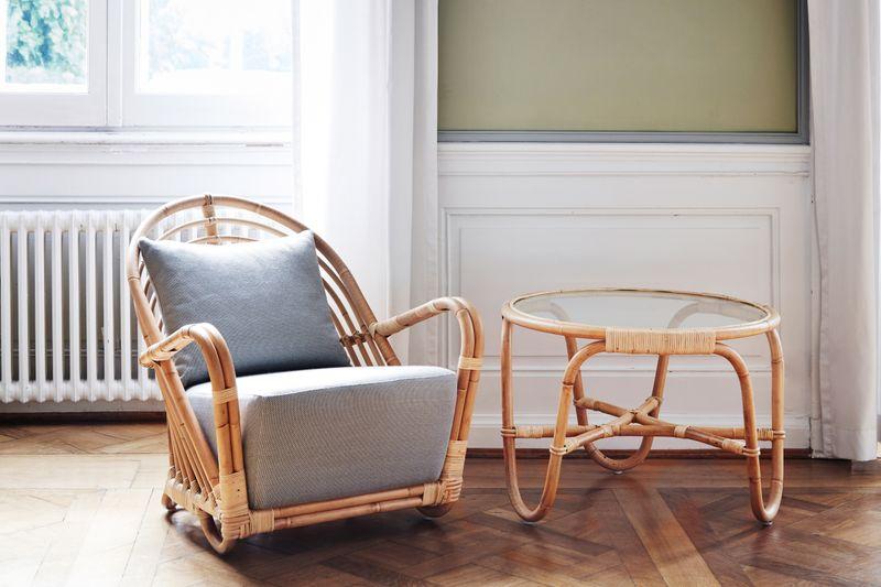Rattan Sessel Charlottenborg - Design by Arne Jacobsen