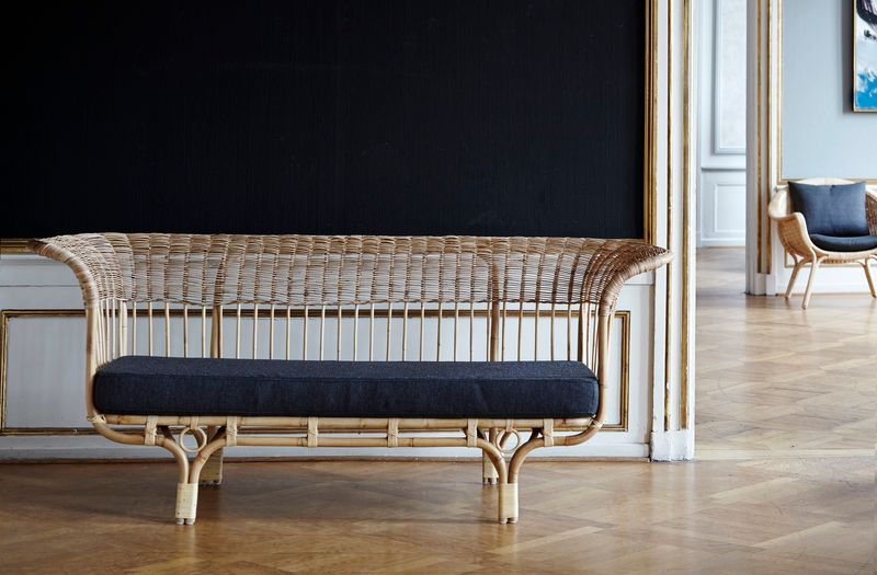 Rattan Sofa Bella Donna - Design by Franco Albini