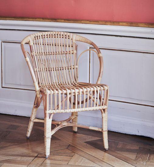 Rattan Stuhl Wengler natur poliert - Design by R. Wengler