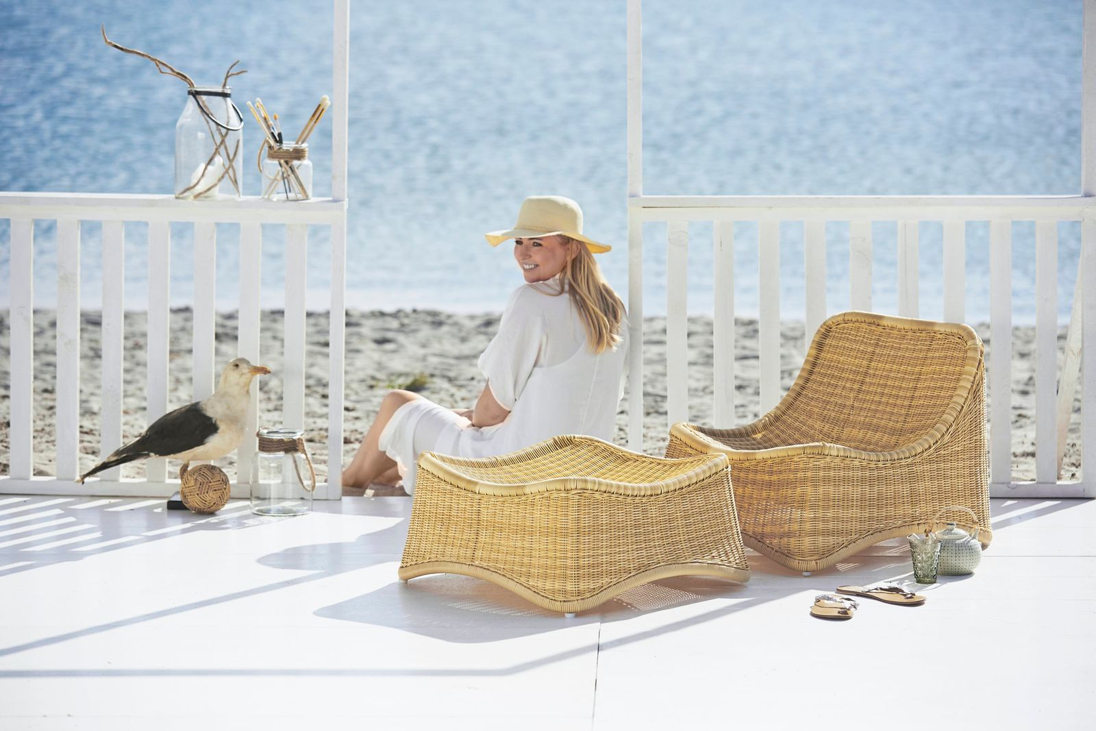 Sika Design Outdoor Rattan Sessel Chill Mit Hocker Design By Nanna