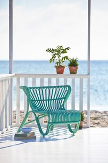 Outdoor Rattan Sessel Fox mint - Design by Viggo Boesen