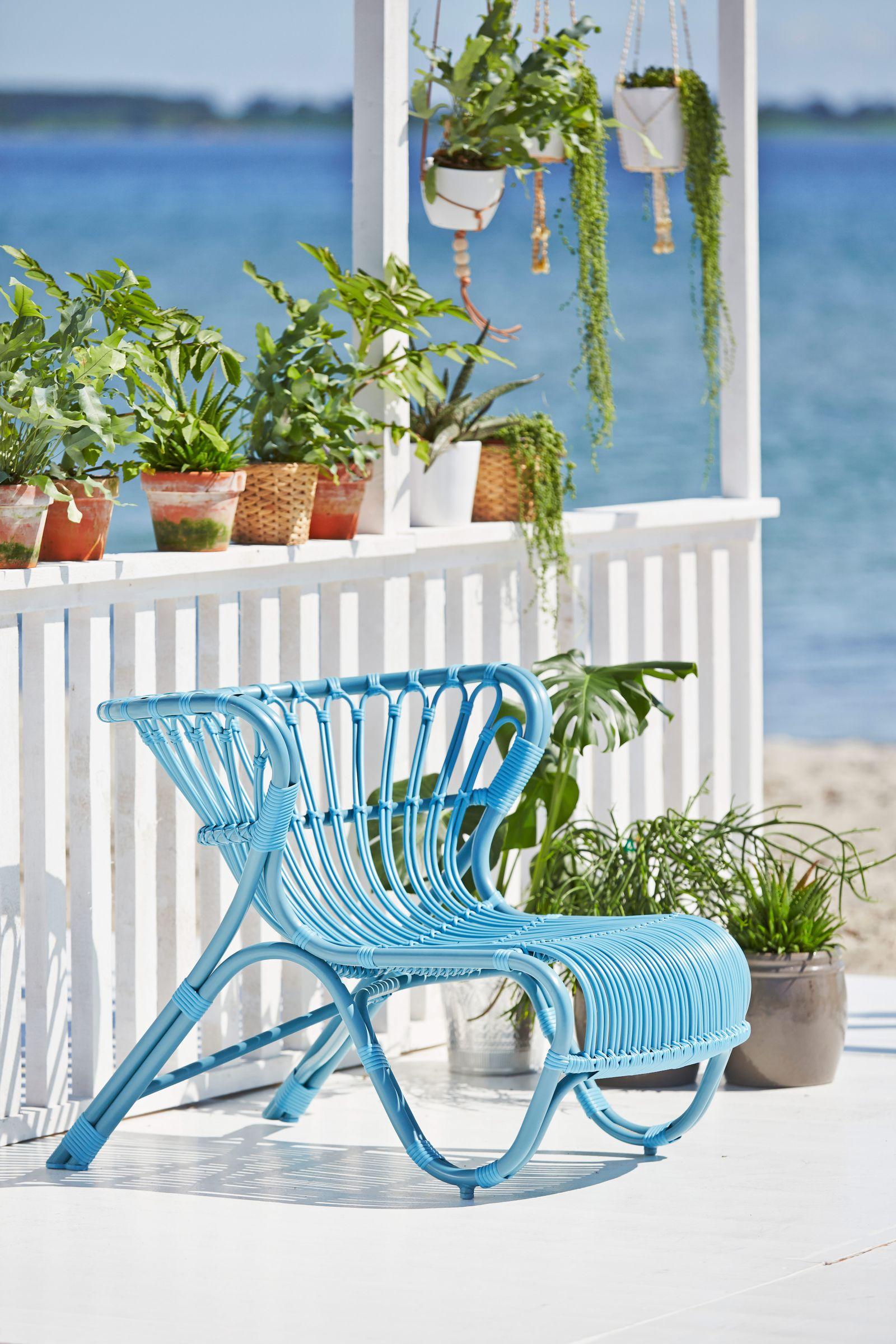 Sika design outdoor rattan sessel fox blau design by for Outdoor sessel design