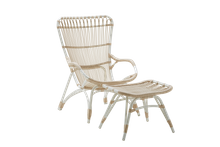 Outdoor Rattan Stuhl Monet von Sika Design mit passendem Hocker Monet