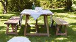 Gartentisch George Teak 200x100 cm ausziehbar auf 280 cm – Bild 4
