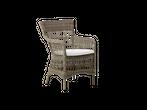 Outdoor Rattan Stuhl Marie mit Armlehen und Sitzkissen – Bild 2