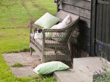 Outdoor Rattan 2-Sitzer Charlot in Antique