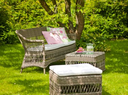 Outdoor Rattan 3-Sitzer Charlot in Antique
