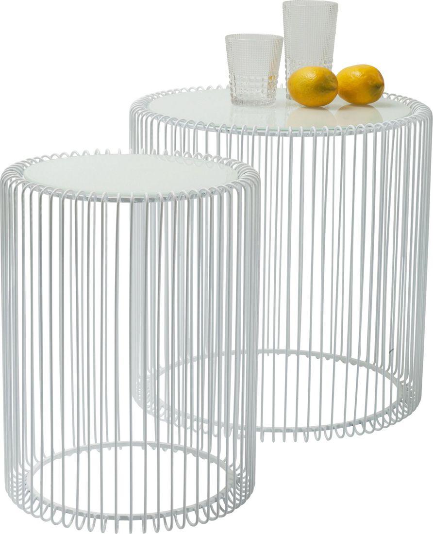 Beistelltisch Wire White (2/Set)