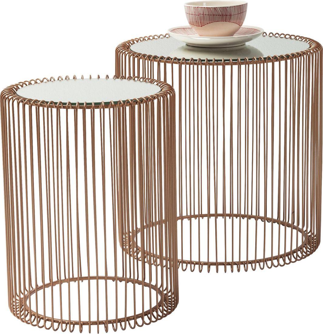 Beistelltisch Wire Copper (2/Set)