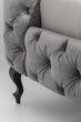 Bett Desire Silbergrau 160x200 cm – Bild 5