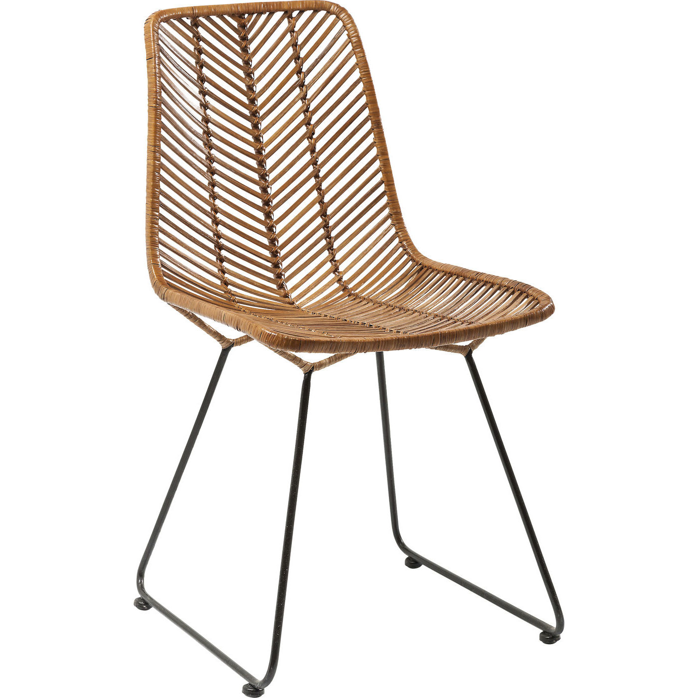 Kare design 2er set stuhl ko lanta rattan braun for Design stuhl