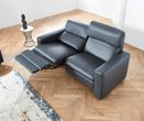Ledersofa Duo mit optionaler Relaxfunktion