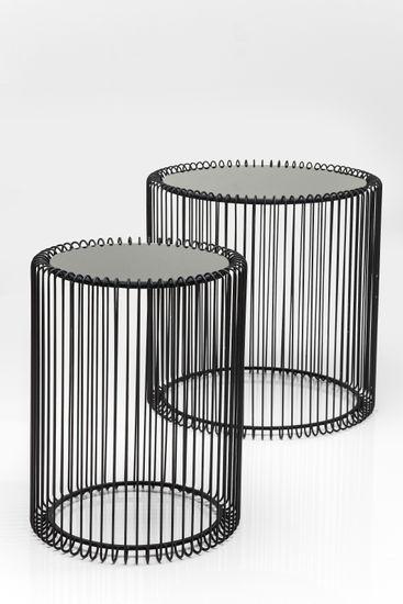 Beistelltisch Wire Black (2/Set)