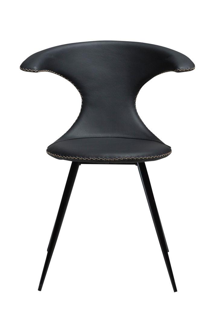 dewall stuhl flair leder schwarz. Black Bedroom Furniture Sets. Home Design Ideas