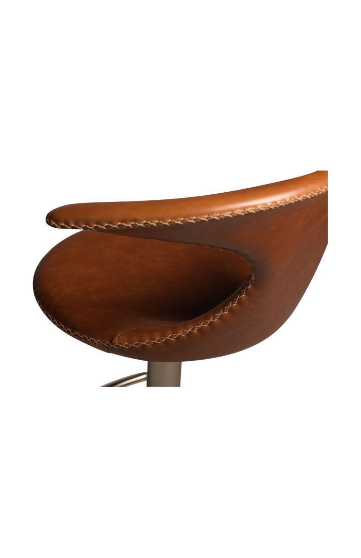 Barhocker Flair Leder Hellbraun Dewall Design