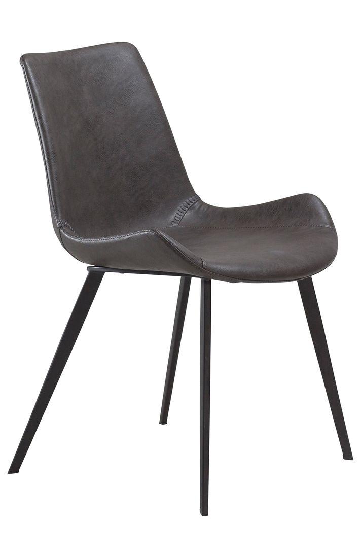 Stuhl Hype Kunstleder Vintage grau