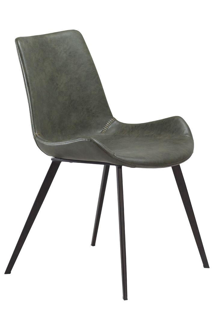 Stuhl Hype Kunstleder Vintage Grün