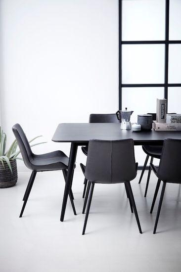 Stuhl Hype Kunstleder Vintage schwarz