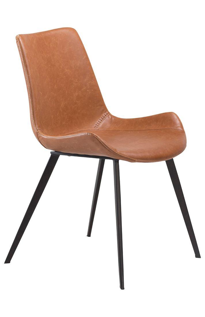 Stuhl Hype Kunstleder Vintage hellbraun