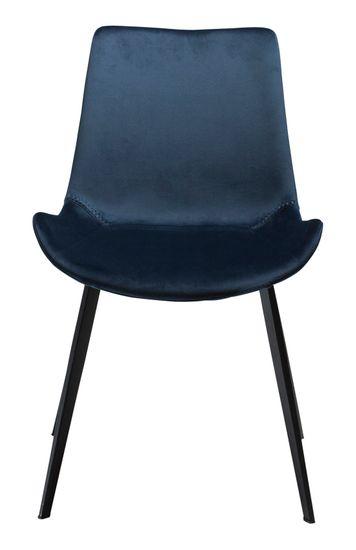 Stuhl Hype Samtstoff dunkelblau