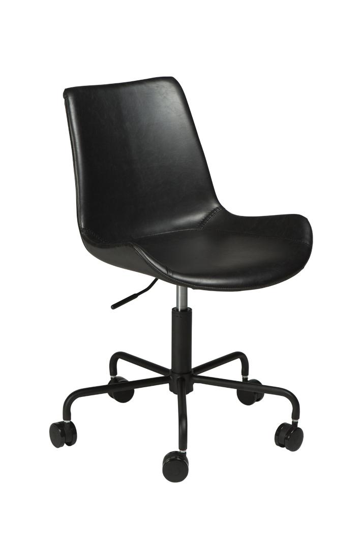 Bürostuhl Hype Kunstleder Vintage schwarz