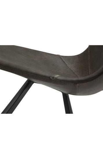 Stuhl Pitch Kunstleder Vintage grau